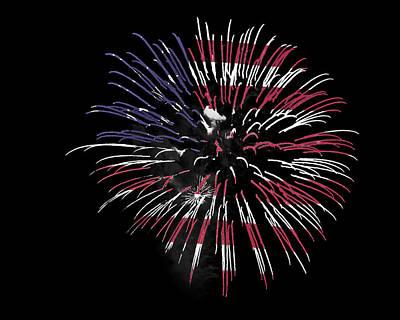 Firework Over Flag Art Print by Robert Graybeal