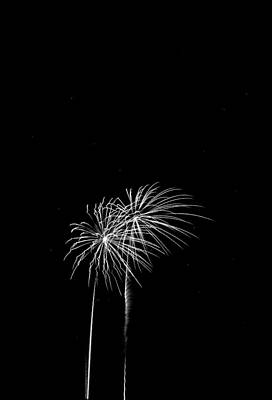 Firework Palm Trees Art Print