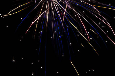 Art Print featuring the photograph Firework Rain by David Isaacson