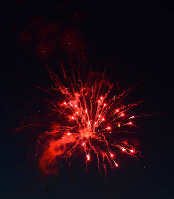 Photograph - Firework Thinks It's A Red Dwarf by Ronda Broatch