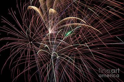 Firework Trails Print by Jason Meyer