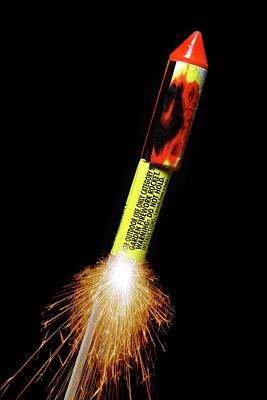 Pyrotechnic Photograph - Firework by Victor De Schwanberg