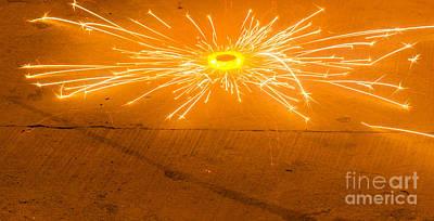 Firework Wheel Art Print by Image World