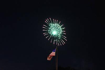 Photograph - Fireworks 1 by Christine Hafeman