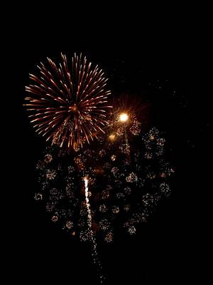 Photograph - Fireworks 12 by Mark Malitz