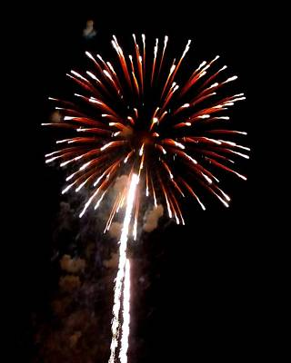 Photograph - Fireworks 14 by Mark Malitz