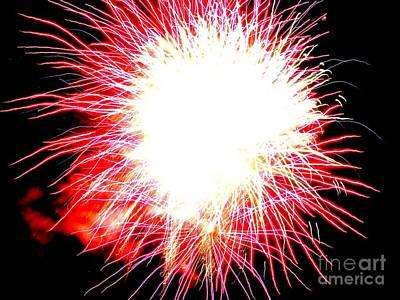 Photograph - Fireworks 2 by Ed Weidman