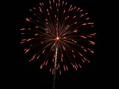 Photograph - Fireworks 2 by Gene Cyr