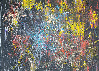 Painting - Fireworks 2007 by Stephen Zeigfinger