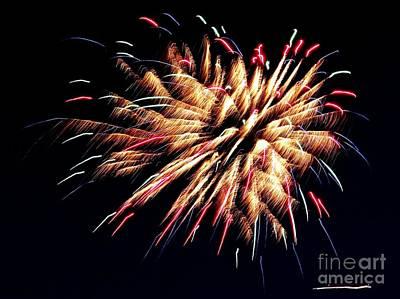 Photograph - Fireworks 4 by Ed Weidman
