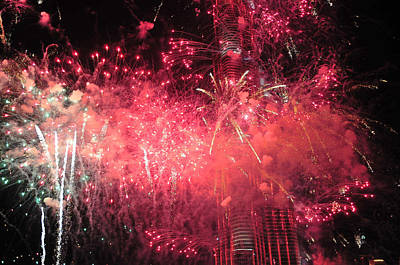 Photograph - Burj Khalifa Fireworks 5 by Dragan Kudjerski