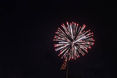 Photograph - Fireworks 6 by Christine Hafeman