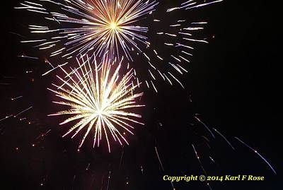 Abstract Airplane Art - Fireworks 8 July 4 2014 by Karl Rose
