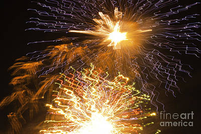 Crush Creations Photograph - Fireworks Abstract 01 by Crush Creations