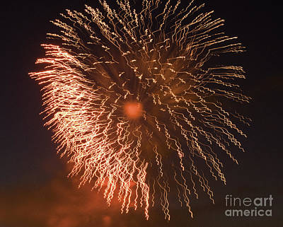 Crush Creations Photograph - Fireworks Abstract 04 by Crush Creations
