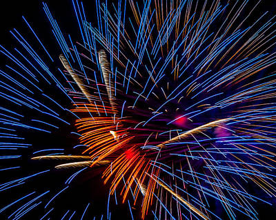 Photograph - Fireworks Abstract by Andy Crawford