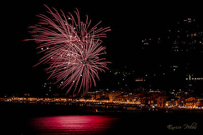 Photograph - Fireworks Alassio 2013 3559 - Ph Enrico Pelos by Enrico Pelos