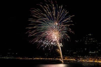 Photograph - Fireworks Alassio 2013 3600 - Ph Enrico Pelos by Enrico Pelos
