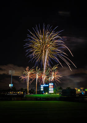 Brighthouse Field Photograph - Fireworks And Baseball by Jeff Donald