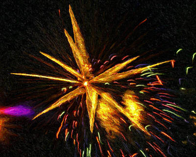 Fireworks As I See Them  3 Art Print by F Leblanc