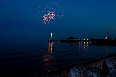 Photograph - Fireworks At Clacton by Andrew Lalchan