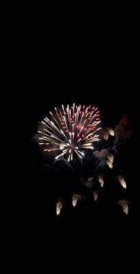 Fireworks At Night Art Print