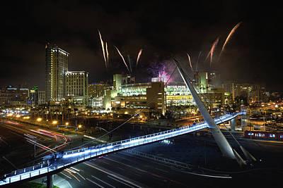 San Diego California Baseball Stadiums Photograph - Fireworks At Petco Park by Tom Odaniell
