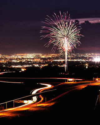 Photograph - Fireworks At Sugarhouse Park by Kayta Kobayashi