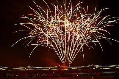 Photograph - Fireworks At Tempe Town Lake  by Saija  Lehtonen