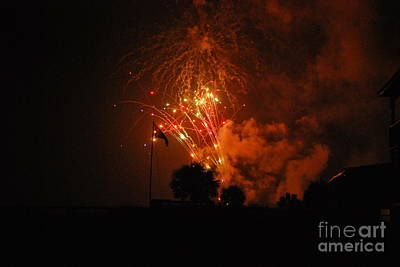 Photograph - Fireworks by Bob Sample