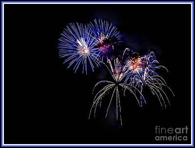 Photograph - Fireworks Burst by Grace Grogan
