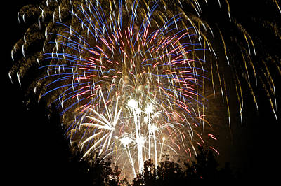 Photograph - Fireworks Bursts Colors And Shapes 1 by SC Heffner