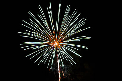 Photograph - Fireworks Bursts Colors And Shapes 2 by SC Heffner