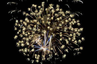 Photograph - Fireworks Bursts Colors And Shapes 4 by SC Heffner