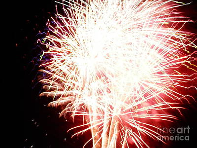 4th July Digital Art - Fireworks By Angela by Angelia Hodges Clay