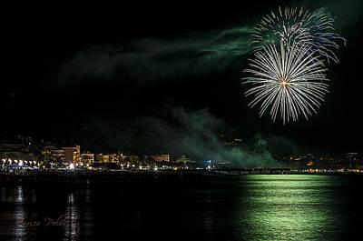 Photograph - Fireworks Ceriale 2013 3668 by Enrico Pelos