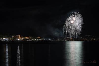Photograph - Fireworks Ceriale 2013 3687 by Enrico Pelos