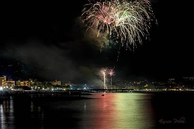Photograph - Fireworks Ceriale 2013 3698 by Enrico Pelos