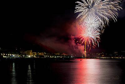 Photograph - Fireworks Ceriale 2013 3711 by Enrico Pelos