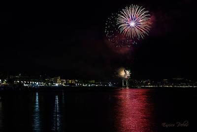 Photograph - Fireworks Ceriale 2013 3714 by Enrico Pelos