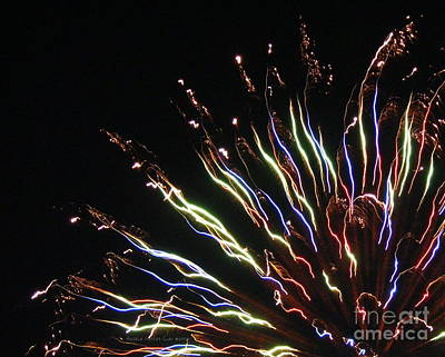 Digital Art - Fireworks Close Up by Angelia Hodges Clay
