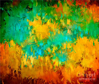 Digital Art - Fireworks Colorful by Holley Jacobs