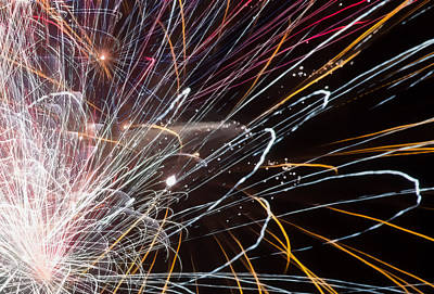 Fireworks Cropped Art Print by Carl Clay