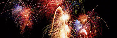 Fireworks Display, Banff, Alberta Art Print by Panoramic Images