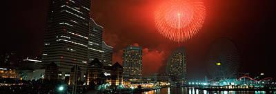 Fireworks Display In The Sky, Minato Art Print