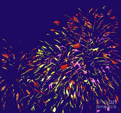 Fireworks Art Print by Elizabeth Blair-Nussbaum