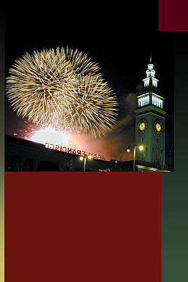 Fireworks Ferry Building Original by Richard Nodine