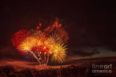 Photograph - Fireworks Finale by Robert Bales