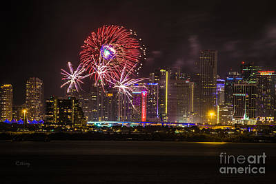 Photograph - Fireworks II by Rene Triay Photography