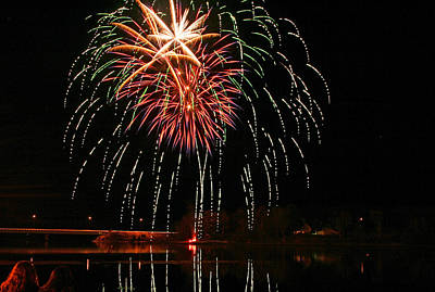 Photograph - Fireworks In Bucksport Maine by Barbara West